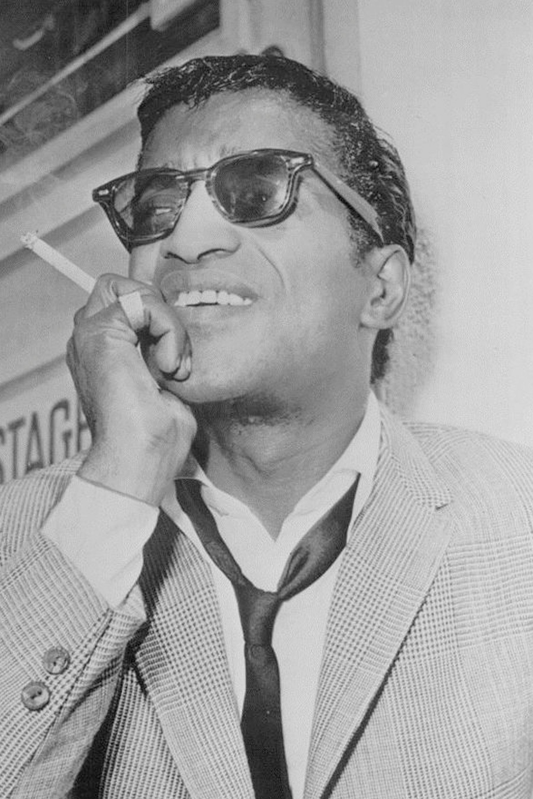 Sammy Davis Jr. wearing glasses