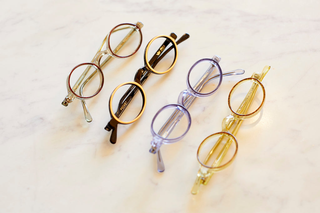 A collection of vintage round glasses