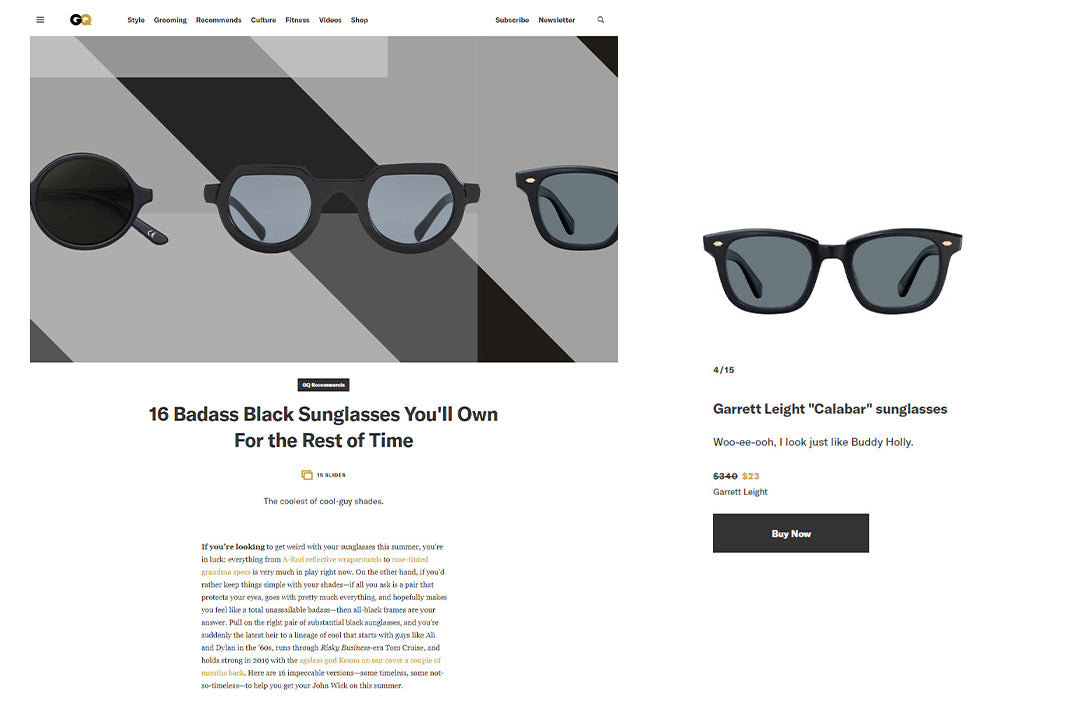 Garrett Leight Calabar sunglasses on GQ.com