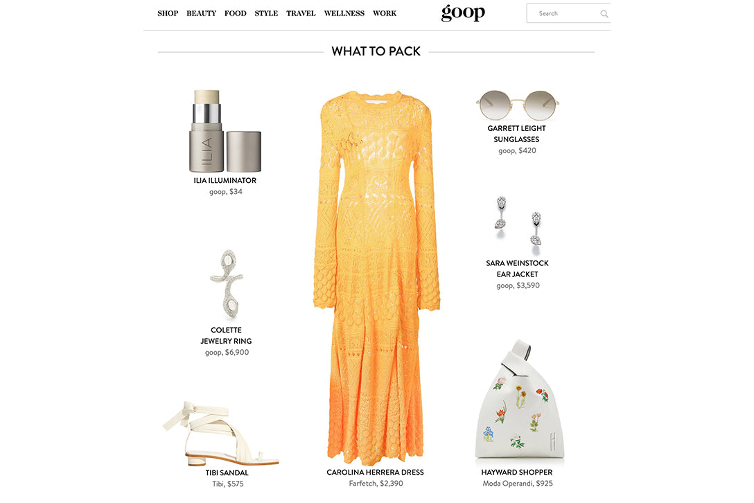 Garrett Leight sunglasses featured on Goop