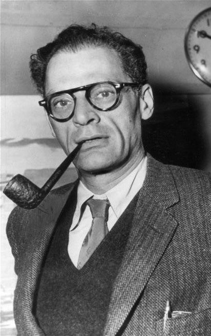 vintage photos of Arthur Miller wearing glasses
