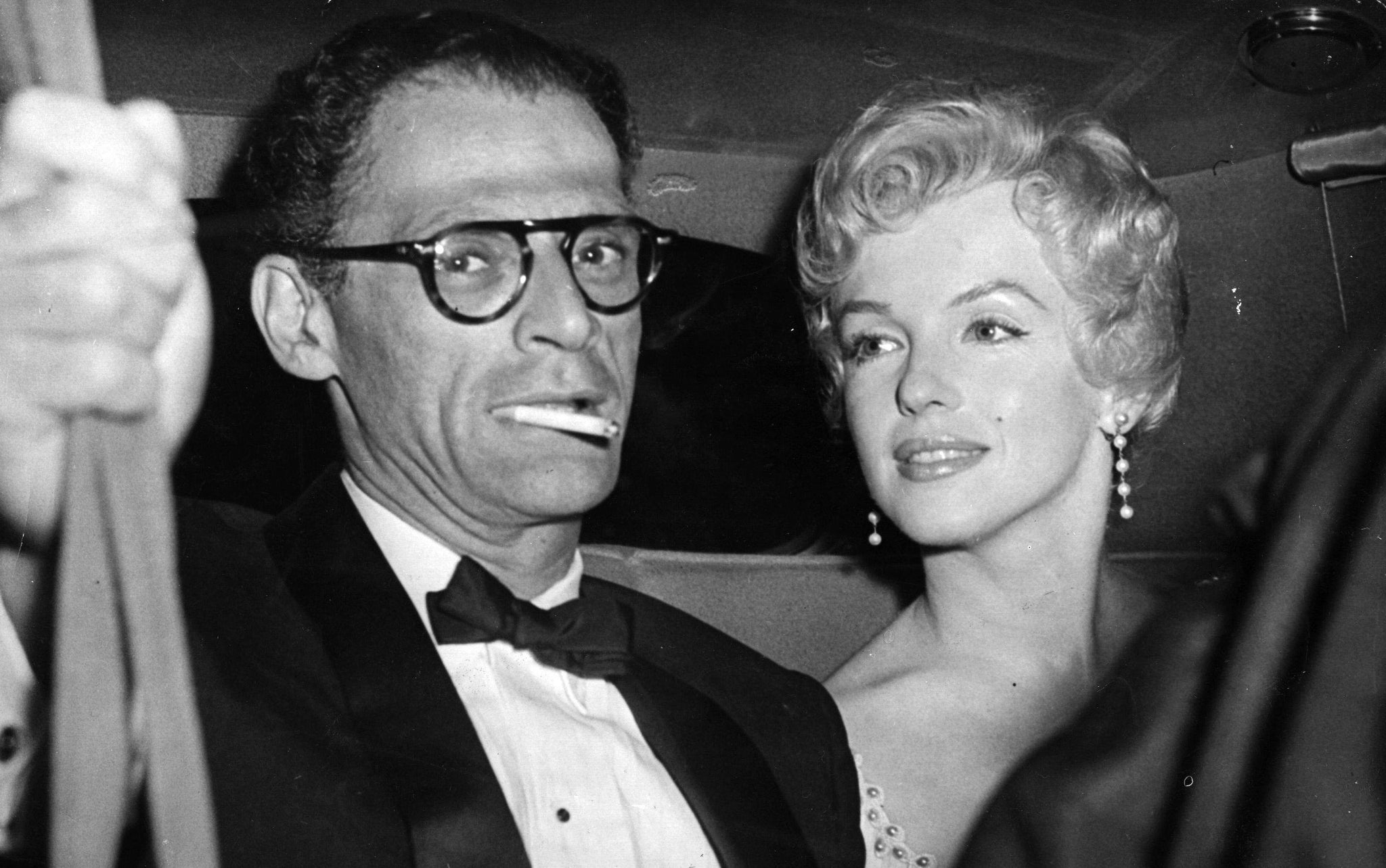 Vintage photo of Arthur Miller and Marilyn Monroe