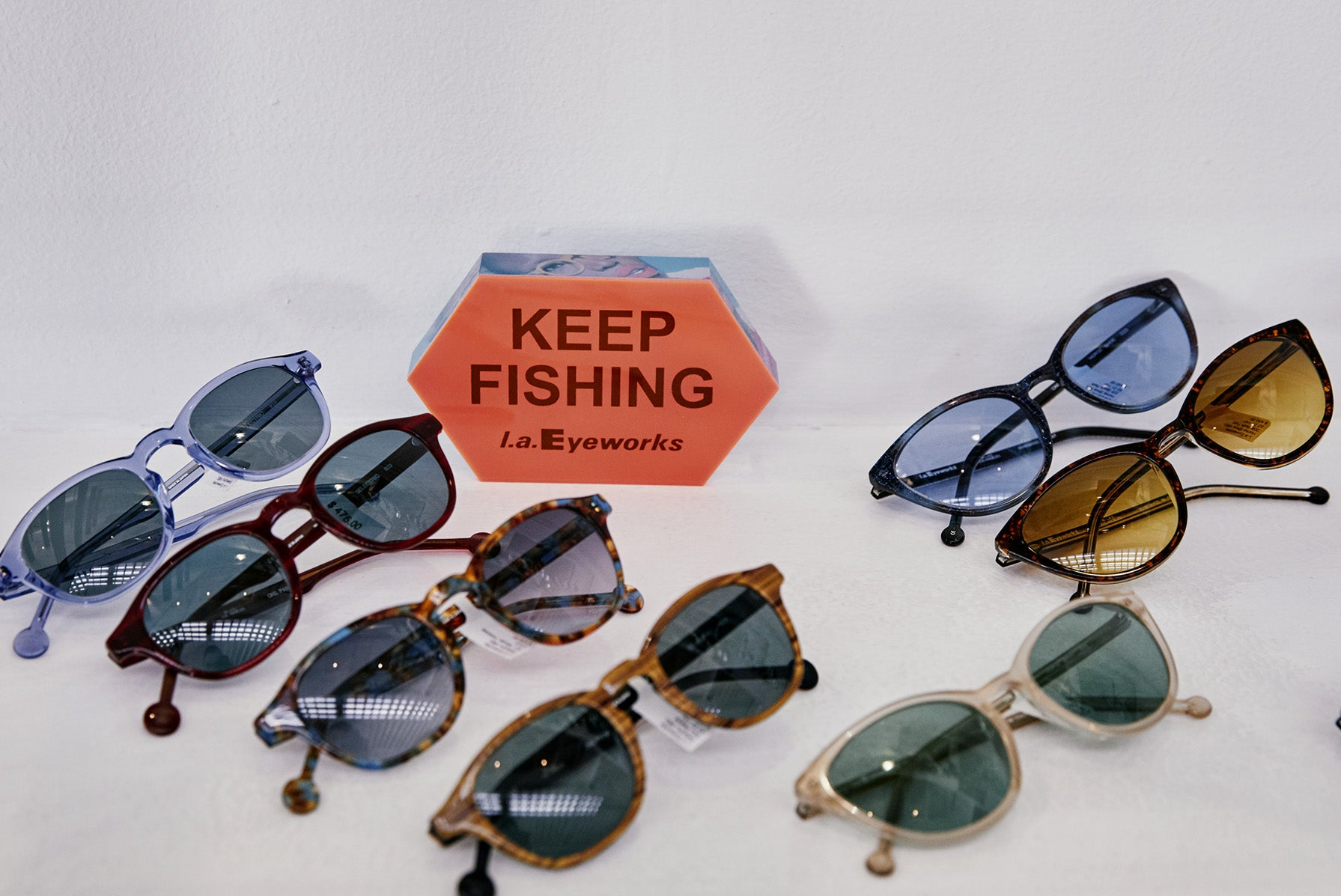 A collection of sunglasses at l.a.Eyeworks.