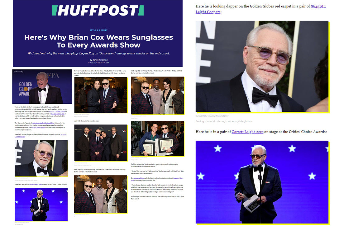 Huff Post featuring Garrett Leight's Mr. Leight Coopers S sunglasses