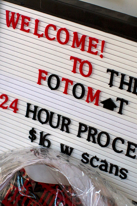welcome to the fotomat signage