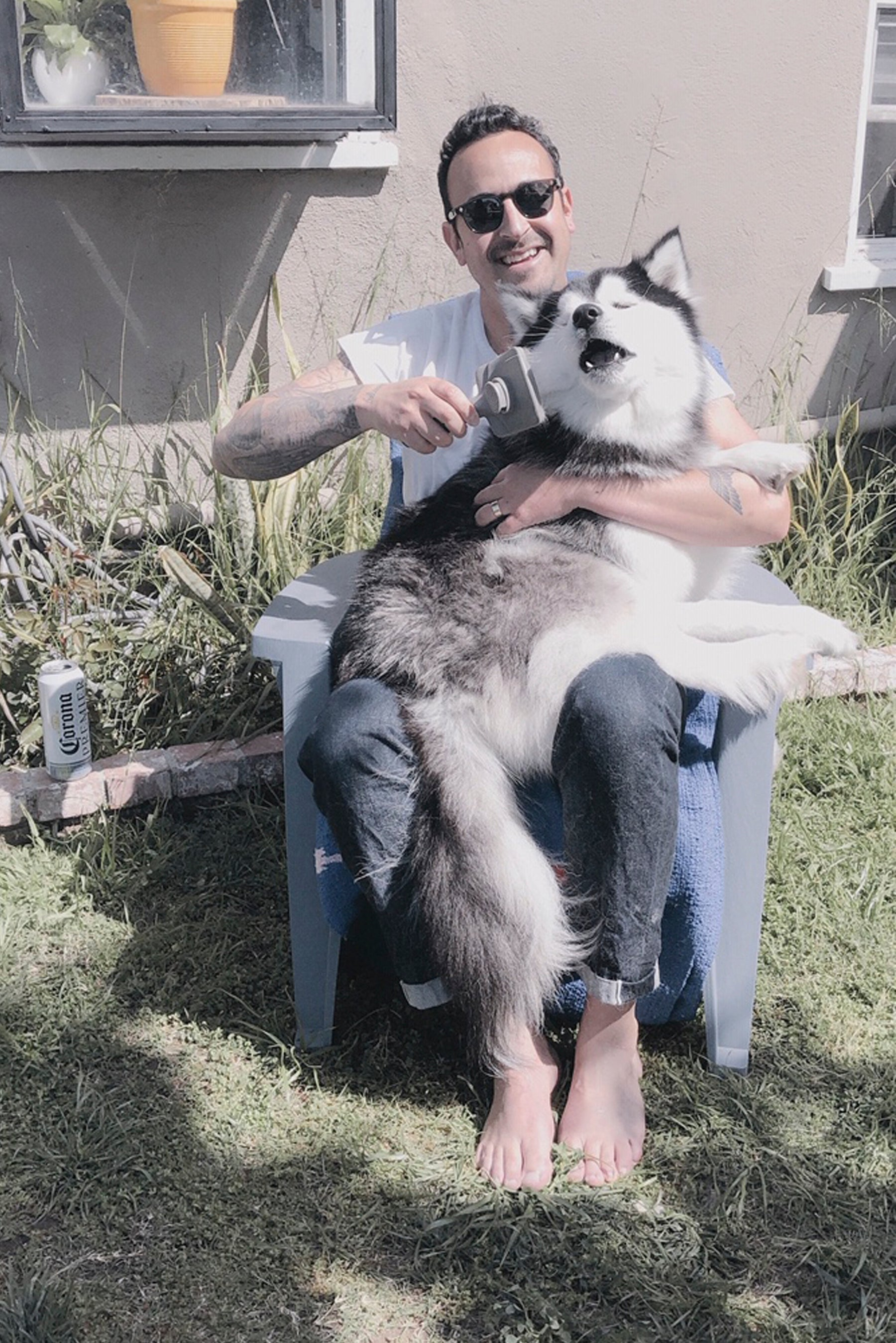 photo of Jason with dog