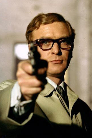 Michael Caine wearing glasses