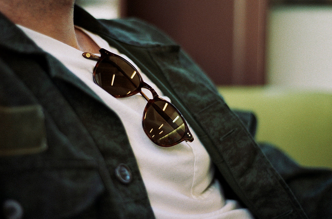 Garrett Leight Hampton sunglasses in whiskey tortoise with pure brown lenses