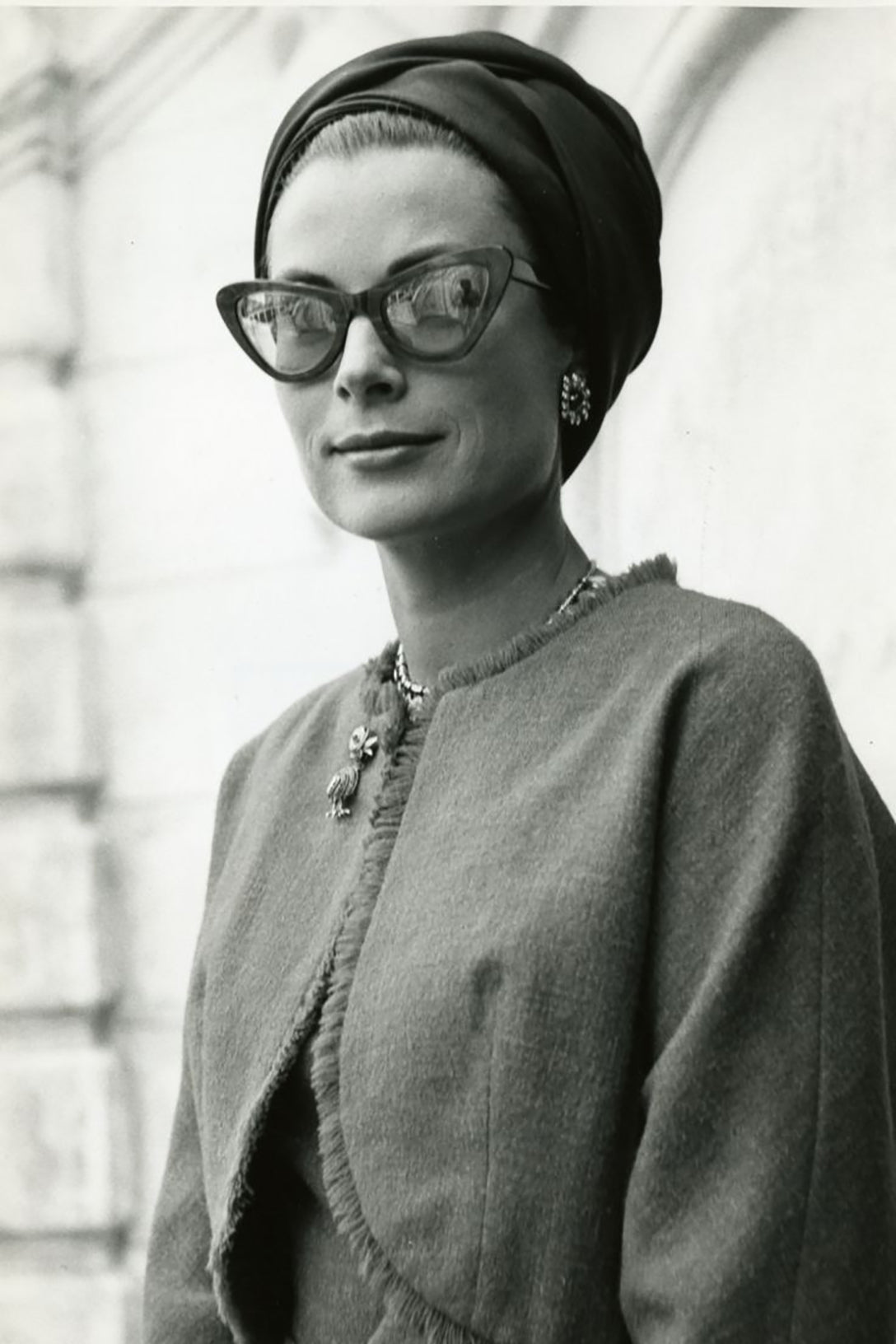 Audrey Hepburn wearing glasses similar to Garrett Leight Vista Sunglasses