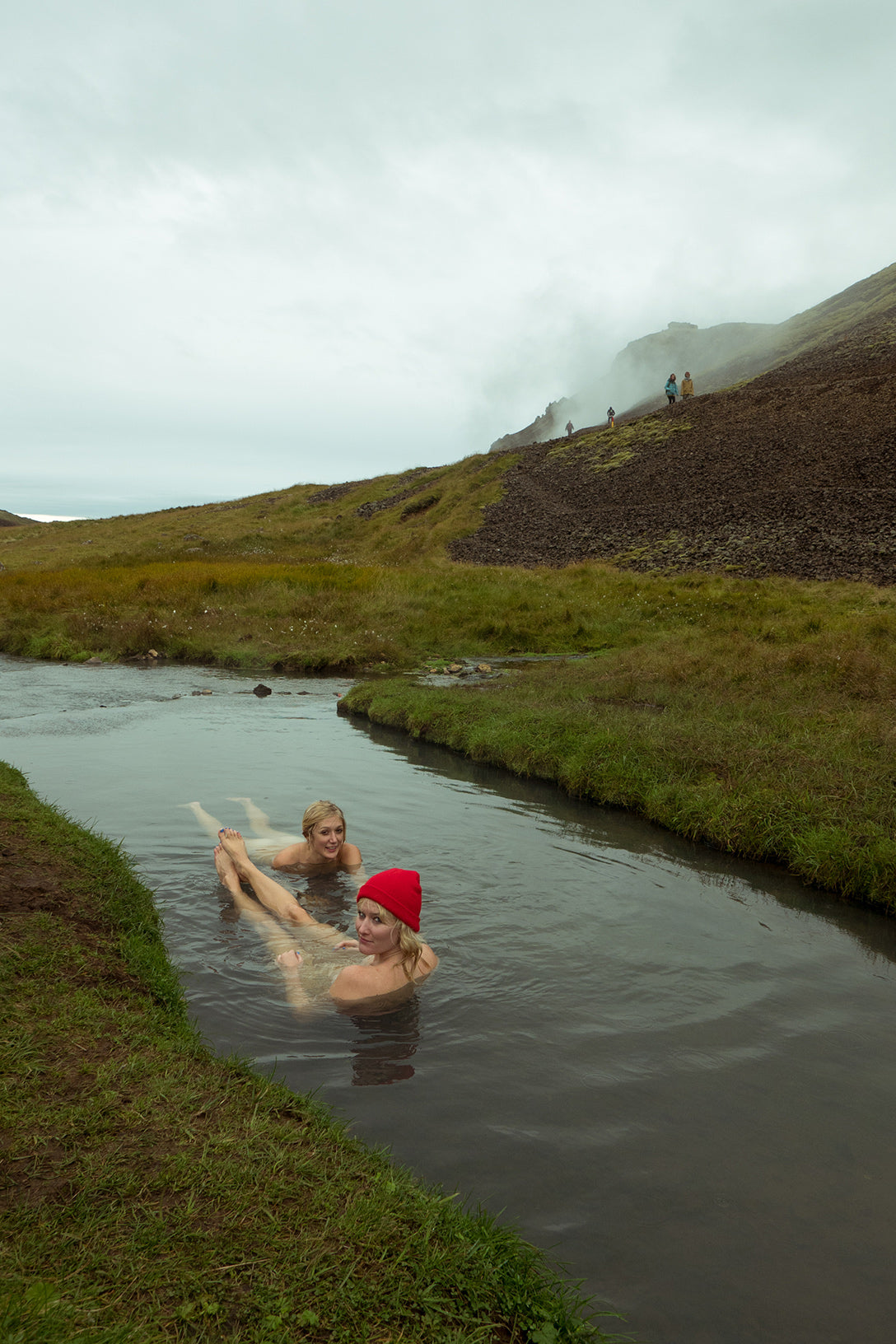 Garrett Leight Cristina Dunlap Iceland river floating