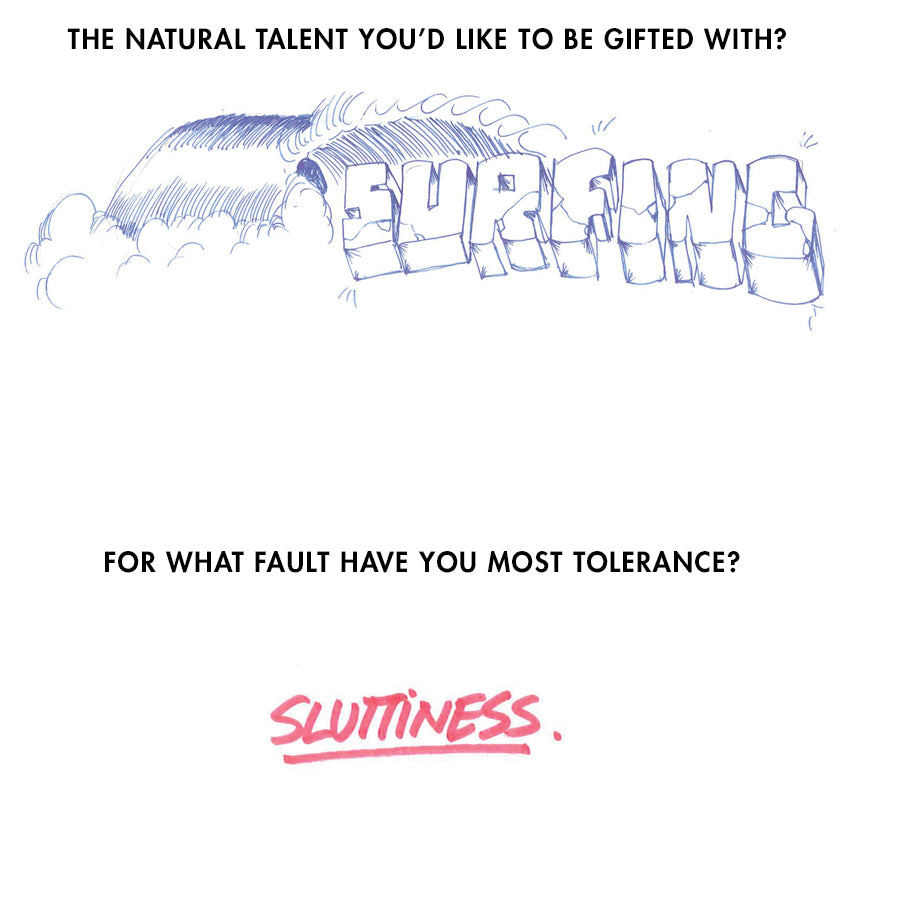 drawing of the word surfing