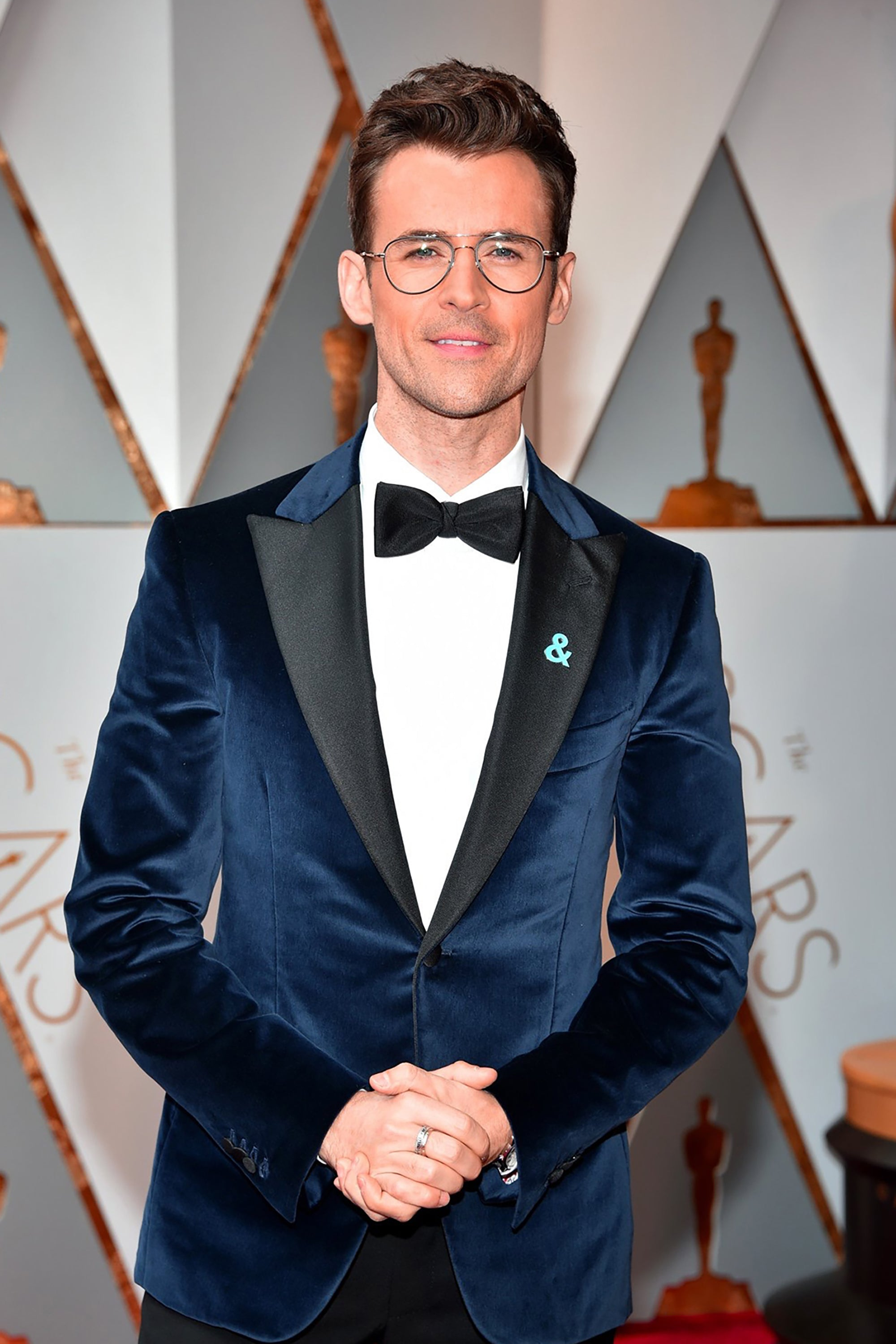 Heart shaped Brad Goreski in Garrett Leight Linnie Optical