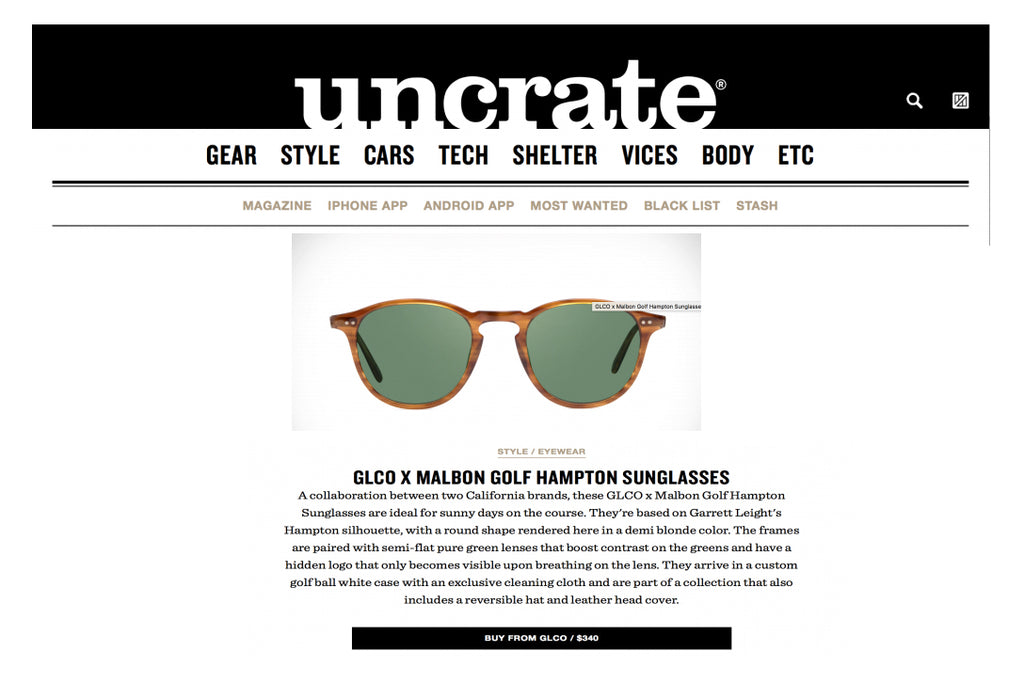 Garrett Leight GLCO x Malbon Hampton sunglasses in Uncrate