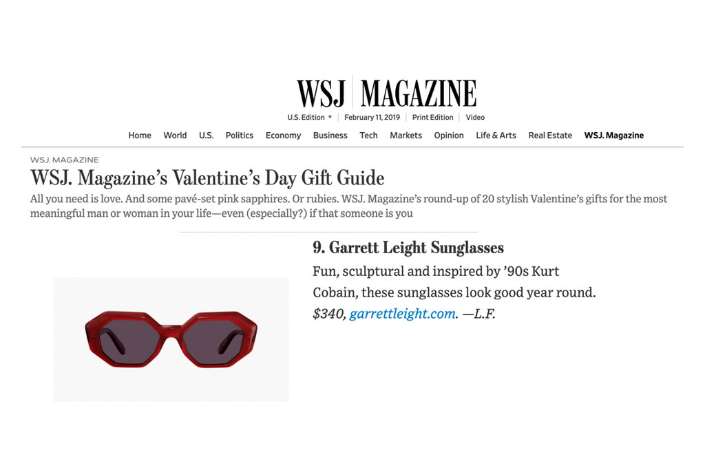 Garrett Leight Jacqueline sunglasses featured in The Wall Street Journal