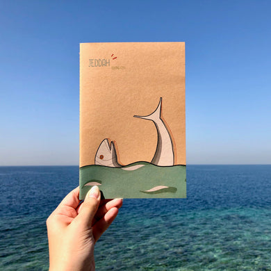 Fish Anthropomorphic notebook - BabMakkah Stores