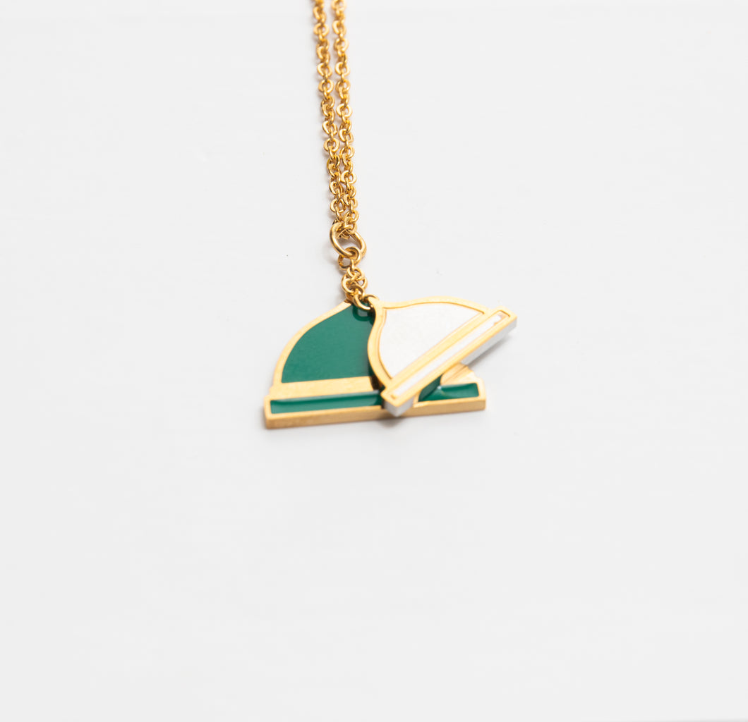 Green Dome Necklace - BabMakkah Stores