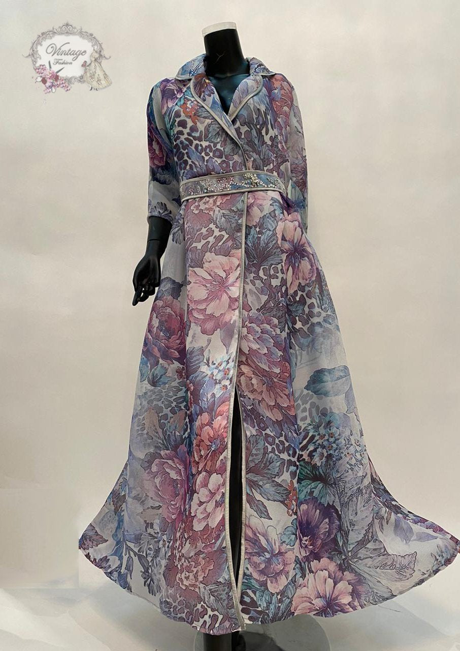 Floral jacket dress - BabMakkah Stores