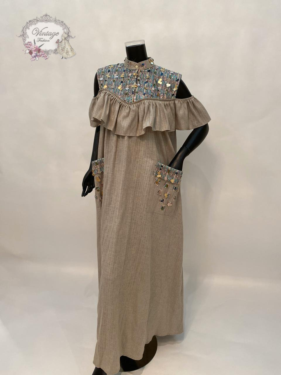 Shoulder Ruffles dress - BabMakkah Stores