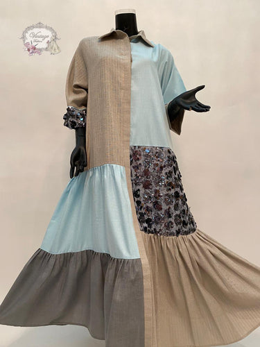 baby blue shirt dress - BabMakkah Stores