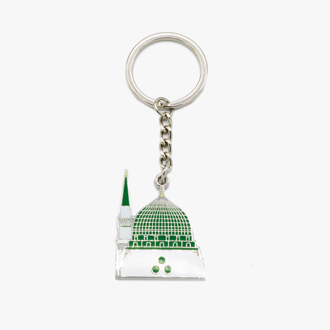 Green Dome Metal Keychain - BabMakkah Stores
