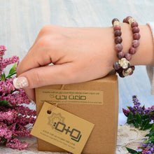 Load image into Gallery viewer, A Bracelet Subha Rhodonite stone 33 rounded beads - BabMakkah Stores