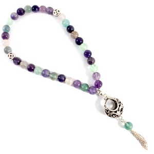 3-in-1 Flourite Necklace/Bracelet/Prayer beads - BabMakkah Stores