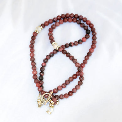 A Bracelet Subha Rhodonite stone 99 rounded beads - BabMakkah Stores