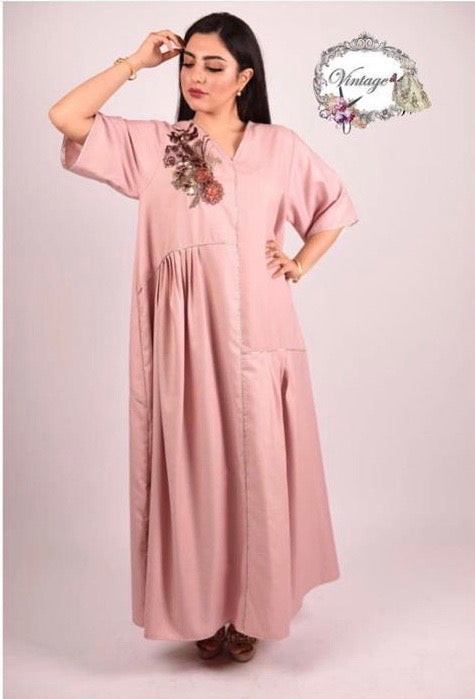 Vintage flower dress By Vintage Fashion - BabMakkah Stores