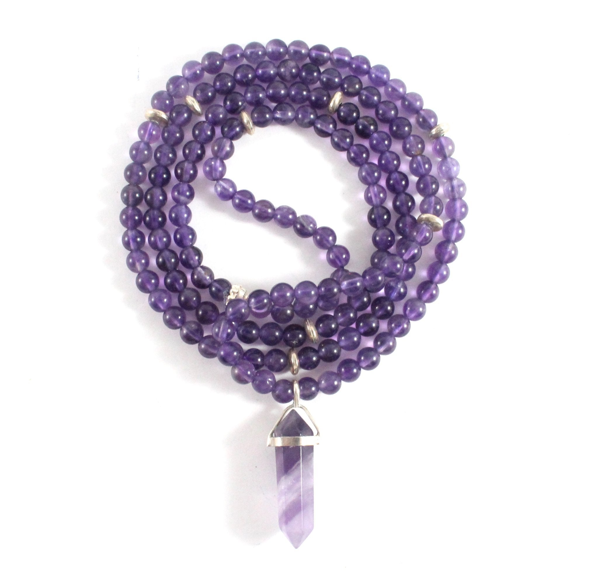 Amethyst Necklace & Pendant - Chakra Collection - BabMakkah Stores