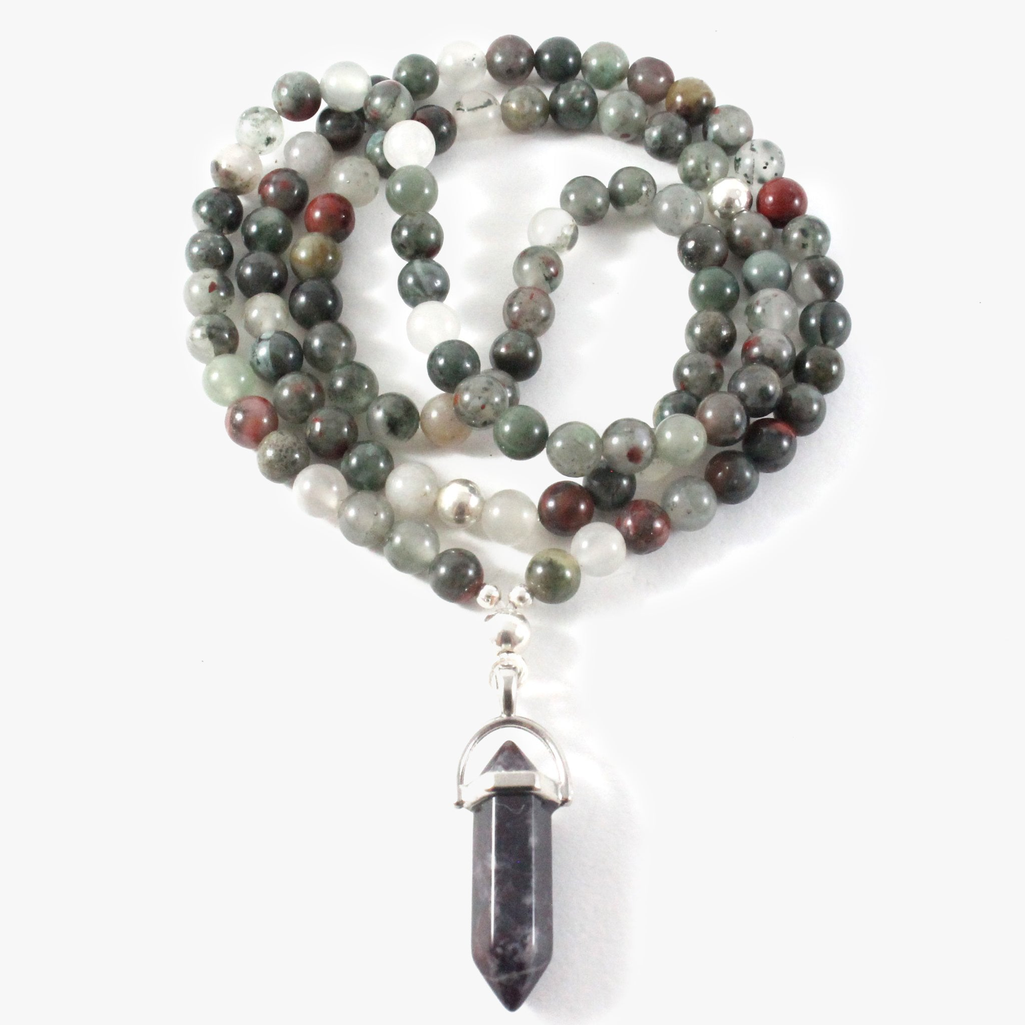 Bloodstone Necklace & Pendant - Chakra Collection - BabMakkah Stores