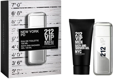 Carolina Herrera Gift set for Men: 212 VIP EDT 100ml, Bath and Shower Gel - BabMakkah Stores
