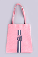 Load image into Gallery viewer, Lines MinMakkah Tote bag - Pink - BabMakkah Stores