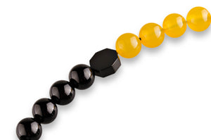 Onyx and Yellow Agate Subha - BabMakkah Stores