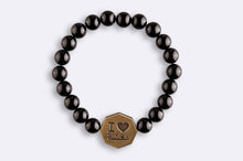 Load image into Gallery viewer, Onyx Octagon I love Makkah Bracelet - Black - BabMakkah Stores