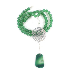 Green Agate Necklace - Matriarch Collection - BabMakkah Stores