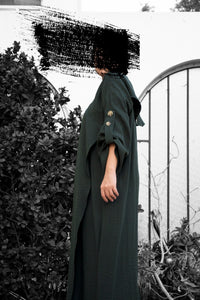 Trench - Green By Hullah - BabMakkah Stores