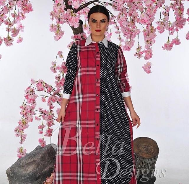 Cotton Thob in Checkered by Bella Design - BabMakkah Stores