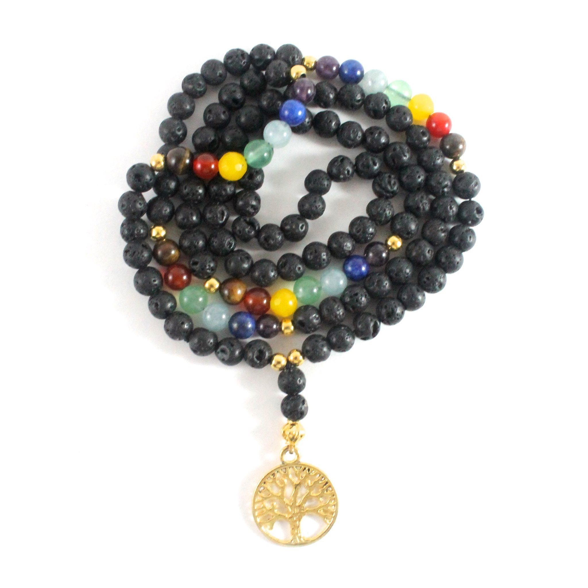Lava Stone Necklace - Chakra Collection - BabMakkah Stores