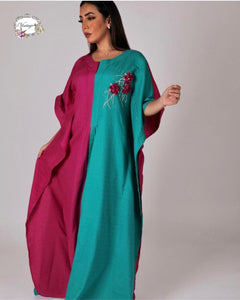 Vintage turquoise and dark purple thobe By Vintage Fashion - BabMakkah Stores