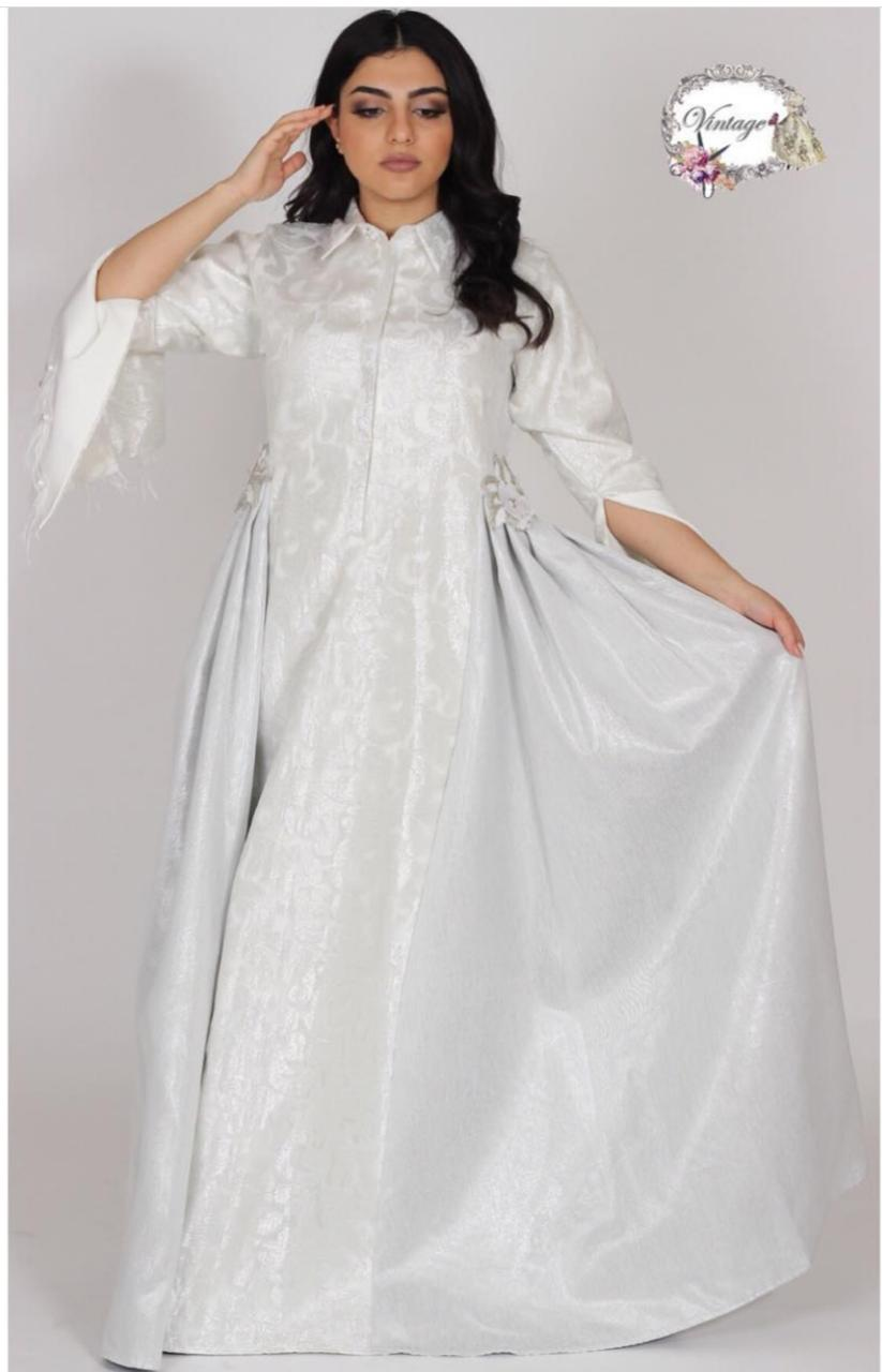 Vintage white with royal By Vintage Fashion - BabMakkah Stores