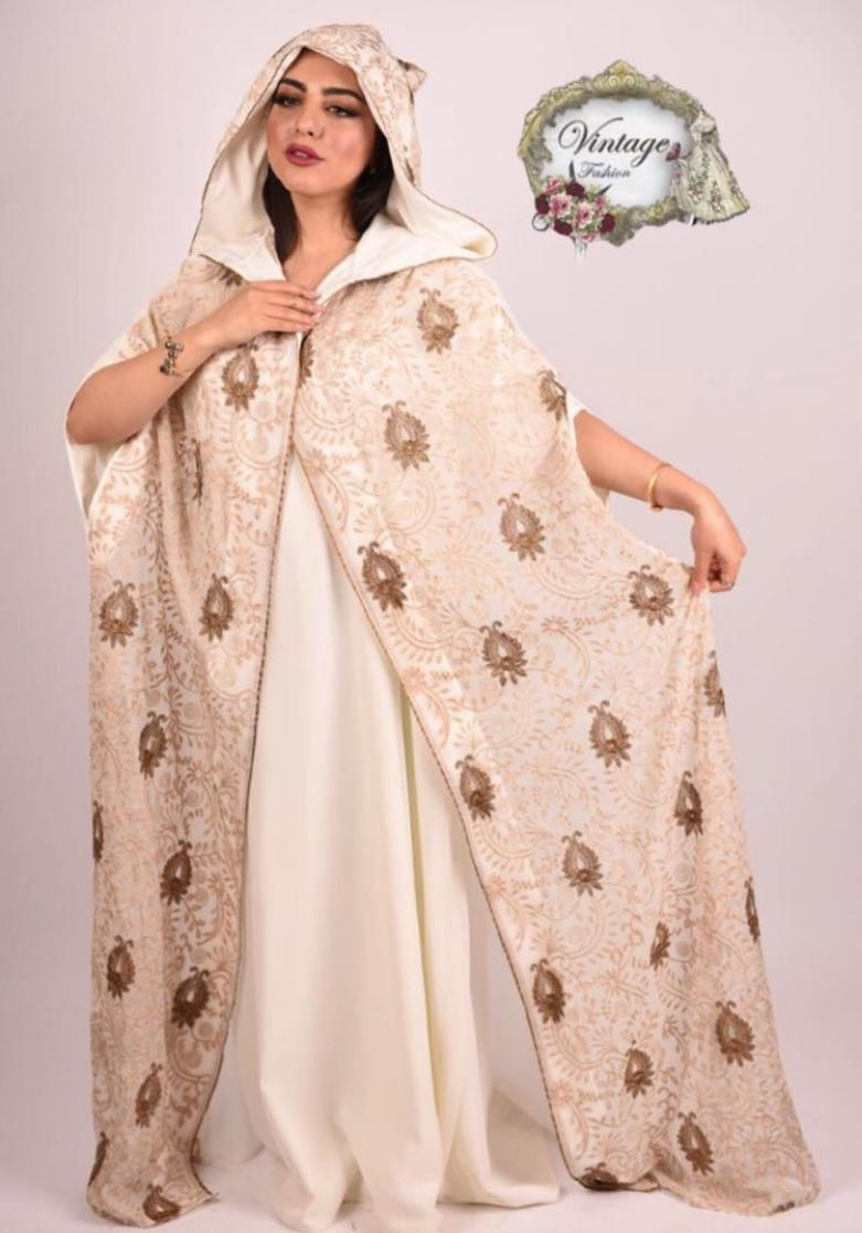 Vintage Morrocan dress with baige royal robe style By Vintage Fashion - BabMakkah Stores