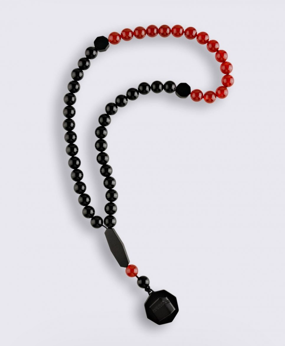 Onyx and Red Agate Subha - BabMakkah Stores