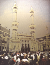 Load image into Gallery viewer, Grand Mosque Wall Art - Metallic - BabMakkah Stores