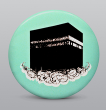 Load image into Gallery viewer, Kaabah on a cloud Button Badge - BabMakkah Stores