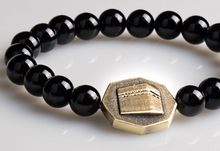 Load image into Gallery viewer, Octagon Onyx stone bracelet - Black - BabMakkah Stores