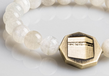 Load image into Gallery viewer, Octagon Moonstone bracelet - White - BabMakkah Stores