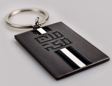 Load image into Gallery viewer, MinMakkah Lines Key chain - Grey - BabMakkah Stores