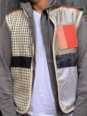Grey and black vest ( M to L) by Mai - BabMakkah Stores