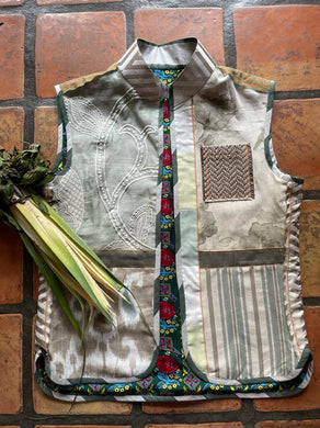 Green\Beige Vest ( S to M )  by (Mai)