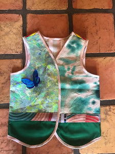 Tie dye green vest  ( 4 to 8 years ) by Mai - BabMakkah Stores
